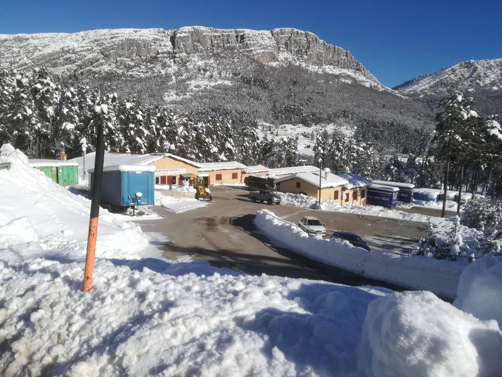 le site de Saint Auban sous la neige le 7 janvier 2021