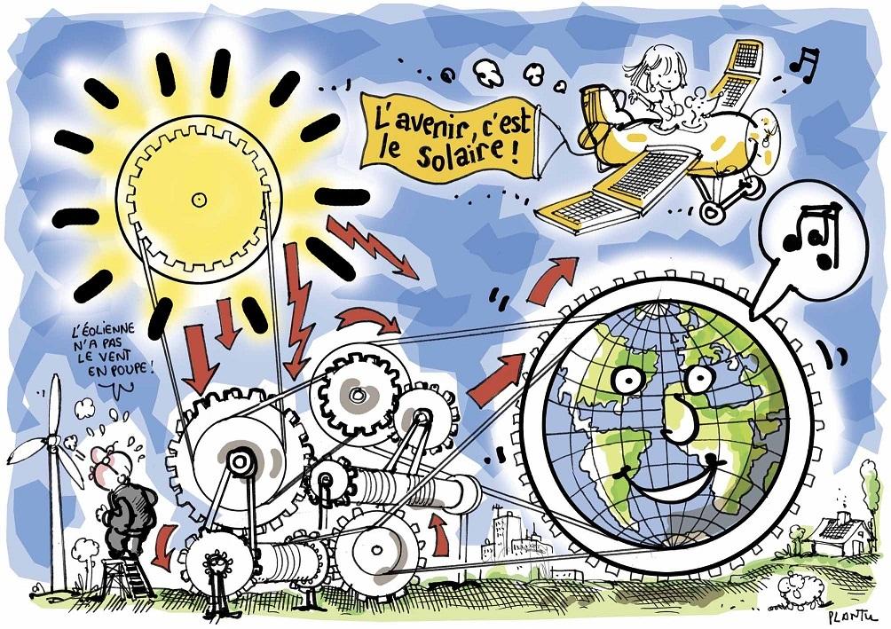 L'Avenir, c'est le solaire, selon Plantu